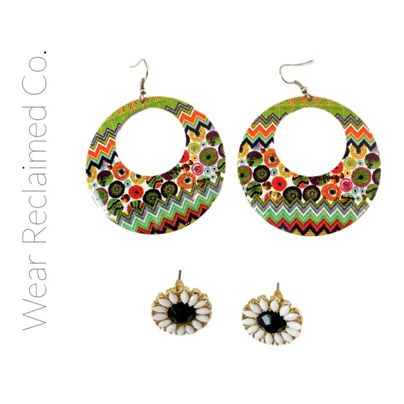FREE WITH PURCHASE - Two Sets Earrings